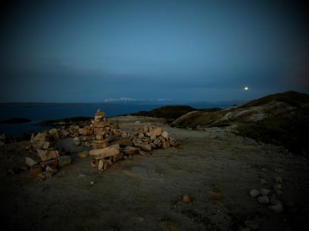 Incké ruiny na severu ostrova