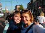Setkani z Liz!! Moje holanska kamaradka ze zimniho dobrovolniceni v Brixenu, jezis to bylo prijemny se zase videt - s nekteryma lidma muze uplynout spousta casu a pri setkani staci naskocit, jak kdyby jsme se bavily vcera....