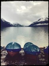 Adventure in the air. Lake Brienz.