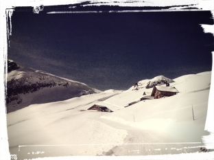 Sledging trip Grindelwald - picking my future hut for living :-)