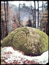Magic stone in Schweibenalp