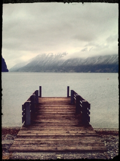Infinity. Stilness. Lake Brienz.