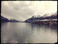 Still waters of Brienz lake