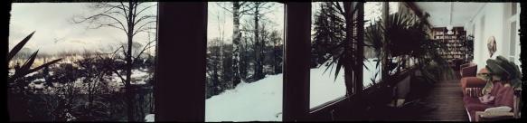 Northern terrace - my favorite morning yoga and meditation spot. Schweibenalp.