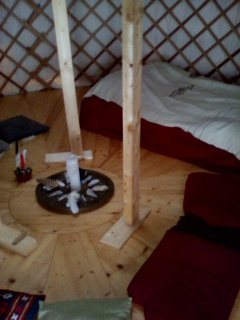 Magic of the yurt.